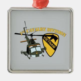 1st Cavalry Division - Vietnam - Huey Metal Ornament