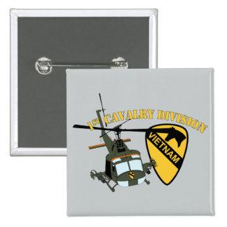 1st Cavalry Division - Vietnam - Huey Pinback Button