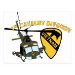 1st Cavalry Division - Vietnam - Huey Postcard