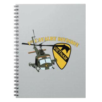 1st Cavalry Division - Vietnam - Huey Spiral Notebook