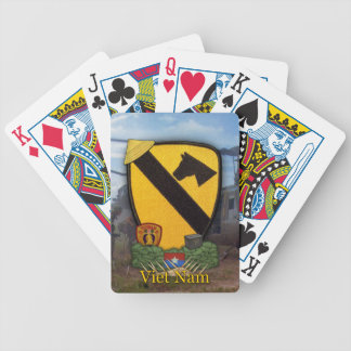 1st cavalry division vietnam veterans poker Cards Bicycle Card Decks