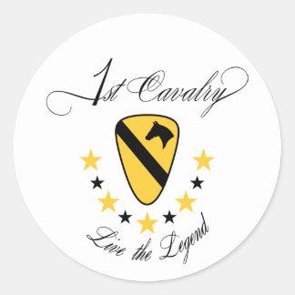 1st Cavalry, Live the Legend Gold Classic Round Sticker
