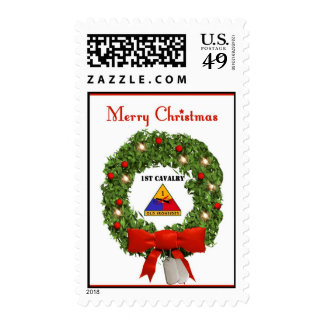1st Cavalry Military Christmas Postage Stamps