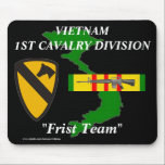 """1st Cavalry Vietnam Mousepad 2/b<br><div class=""""desc"""">Designed By A Vietnam Veteran --Designs feature: Vietnam Veterans who where in the Army,  Marines,  Armor, their Divisions,  Battalions,  Brigades.High quality printing and a must for the Vietnam veteran.Been there done that show it.Please check out the rest of our store for many  girft items.Like T-Shirts--Mousepads--Coffee Mugs and more.</div>"""