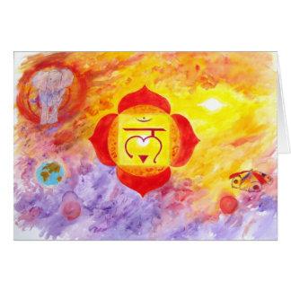 1st chakra greeting card