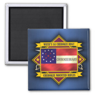 1st Cherokee Mounted Rifles 2 Inch Square Magnet