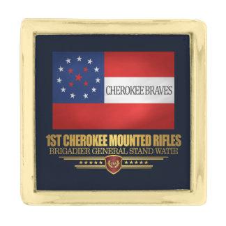 1st Cherokee Mounted Rifles Gold Finish Lapel Pin