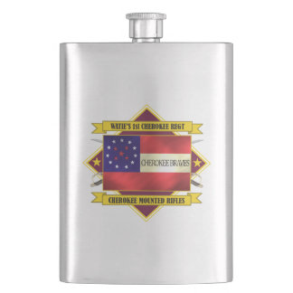 1st Cherokee Mounted Rifles Hip Flask