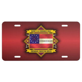 1st Cherokee Mounted Rifles License Plate