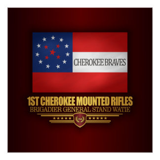 1st Cherokee Mounted Rifles Poster