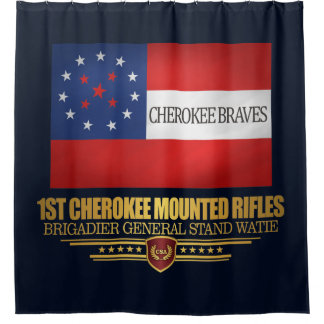 1st Cherokee Mounted Rifles Shower Curtain