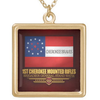 1st Cherokee Mounted Rifles Square Pendant Necklace