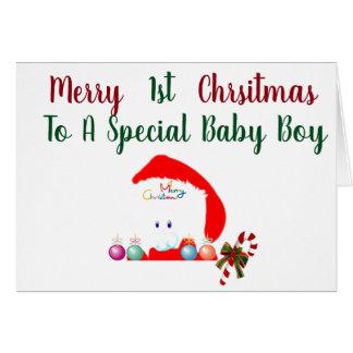 ***1st CHRISTMAS **BABY BOY*** Card