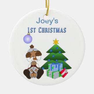 1st Christmas (Boy) Holiday Ornament