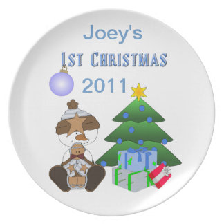 1st Christmas (Boy) Holiday Plate