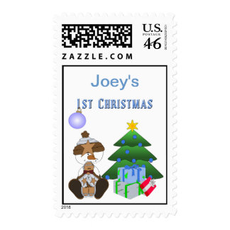 1st Christmas (Boy) Postage Stamps