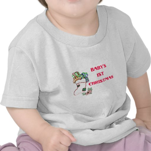 1st christmas_edited-1 t-shirts