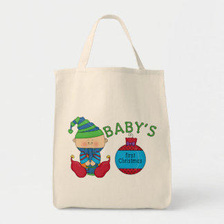 1st Christmas Elf Tshirts and Gifts Grocery Tote Bag
