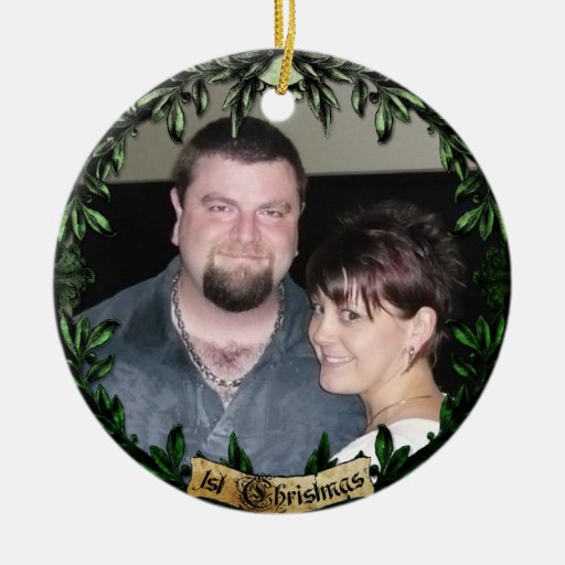 1st Christmas Holiday Leaves Ornament