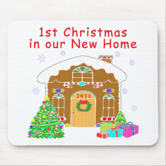 1st Christmas in our New Home Mouse Pad