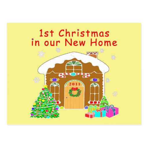 1st Christmas in our New Home Postcard