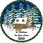 1st Christmas In Y0ur Home 2010 Ornament Photo Cutout