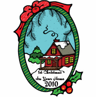 1st Christmas In Your Home 2010 Ornaments Cutout
