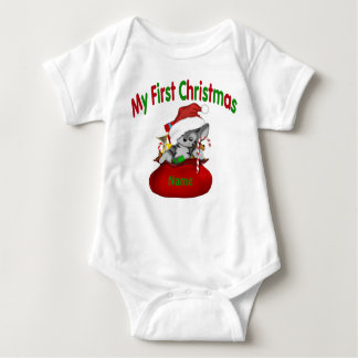1st Christmas Kitty Personalized T-shirt