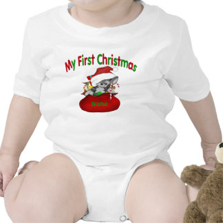 1st Christmas Kitty Personalized Rompers
