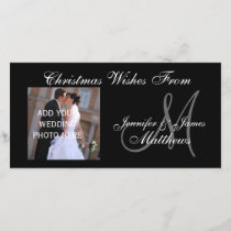 1st Christmas Monogram Photo Card
