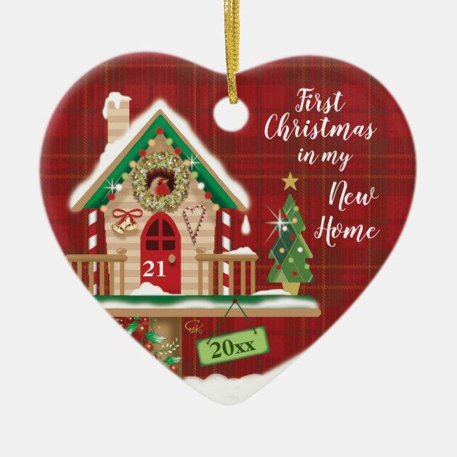 1st Christmas, My New Home, Birdhouse Ceramic Ornament