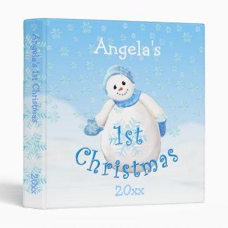 1st Christmas Snowman Avery 1 Inch Binder