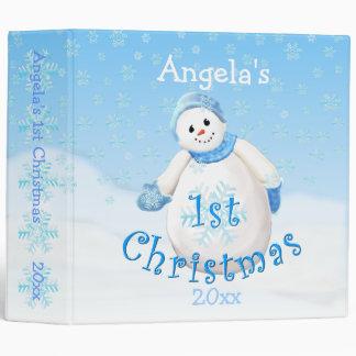 1st Christmas Snowman Avery 2 Inch Binder