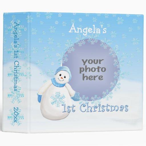 1st Christmas Snowman Memories 2 Inch Avery Binder