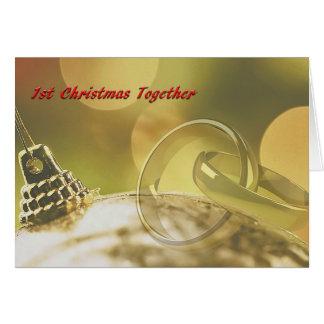1st Christmas Together Card