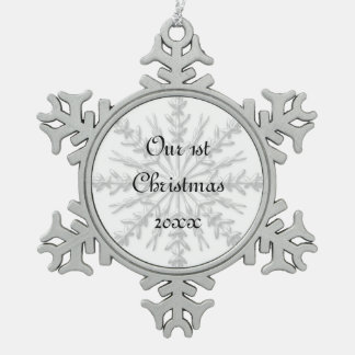 1st Christmas Together Snowflake Ornament
