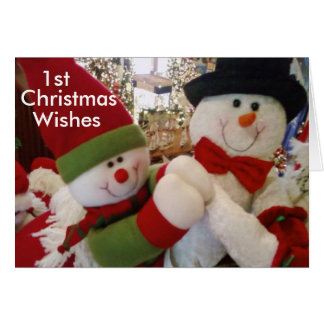 1st CHRISTMAS WISHES LITTLE ONE Greeting Card