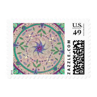 1st class (1oz) postage featuring colorart mandala