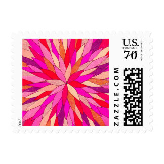 1st class (2oz) postage featuring colorart mandala