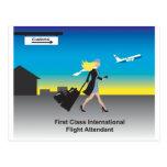 1st Class International Flight Attendant Post Card