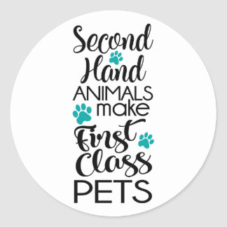 1st Class Pets Classic Round Sticker