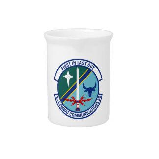 1st Combat Communications Squadron Beverage Pitcher