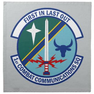 1st Combat Communications Squadron Napkin