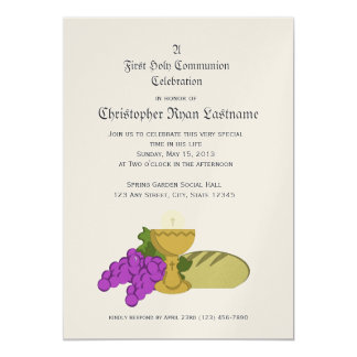 1st Communion Bread of Life Card