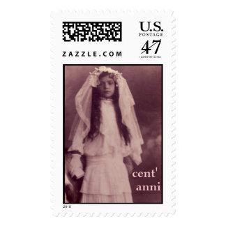 1st communion, cent', anni postage