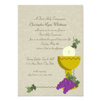 1st Communion Chalice Card