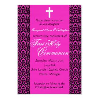 "1st Communion Invitation - Girls 5"" X 7"" Invitation Card"