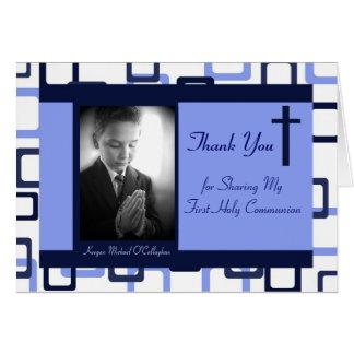 1st Communion Thank You - Boy Stationery Note Card