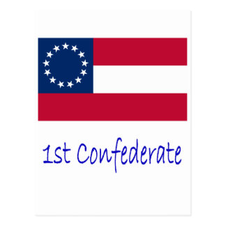 1st Confederate Flag Postcard