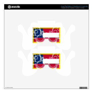 1st  Confederate Flag PS3 Controller Skins
